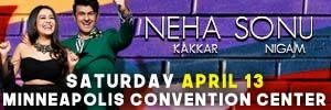 Sonu Nigam Neha Kakkar in Minneapolis MN in April